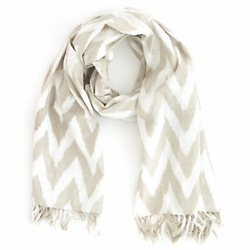 Platinum/Grey Ikat Beach Scarf