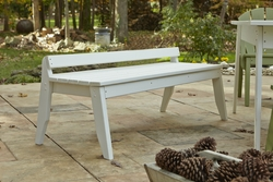 Plaza Outdoor 3-Seat Bench without Back