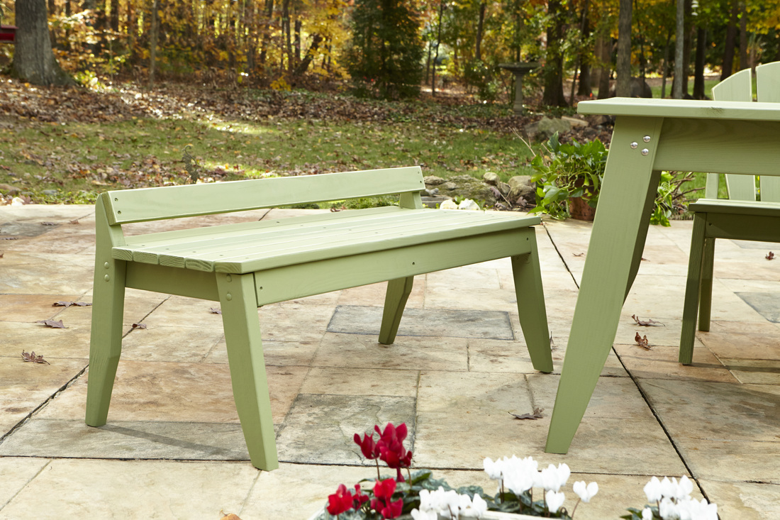 Plaza Outdoor Two Seat Bench Without Back For Sale