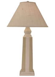 Pyramid Stripe Pot Lamp in Ivory/Paratan