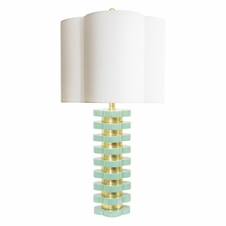 Quatrefoil Lamp in Mint