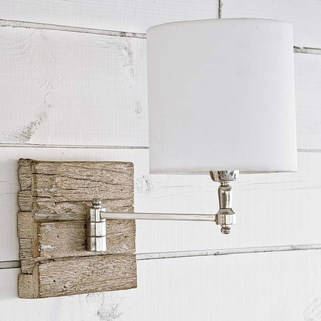 Reclaimed Wood Swing Arm Pinup Sconce