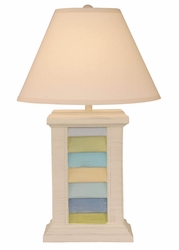 Multi Stripe Rectangle Shutter Pot Lamp