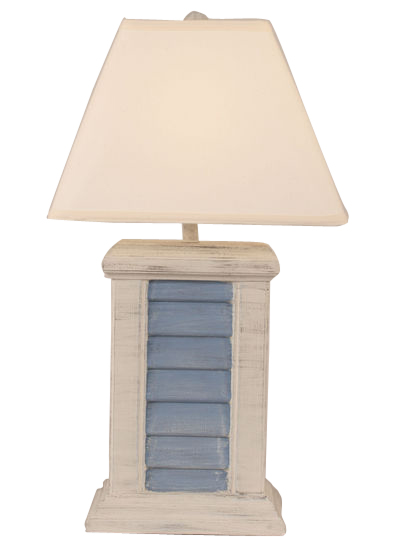 Rectangle Shutter Pot Lamp In Ivory Amp Blue Over 185 Lamps