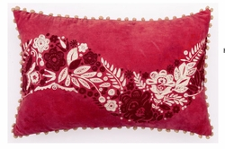 Red Holiday Holly Berry Pillow<font color=cf2317> Sold Out</font>
