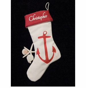 Red or Blue Anchor Stocking