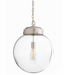 Reeves Polished Pendant  Light in Two Sizes