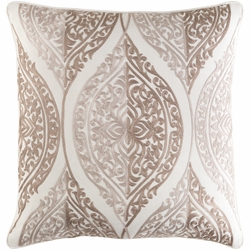 Regina Embroidered Pillow Beige<font color=a8bb35> Limited Stock</font><font color=cf2317> 20% Off</font>