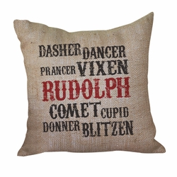 Reindeer Name Pillow <font color=a8bb35> Discontinued</font>