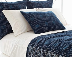 Resist Dot Indigo Coverlet
