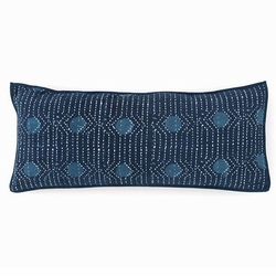 Resist Dot Indigo Decorative Pillow <font color=a8bb35> Discontinued</font>