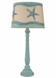 Round Buffet Lamp in Aqua