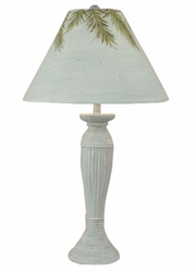 Round Rattan Pot Lamp in Atlantic Grey