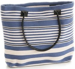 Rugby Stripe Denim Tote