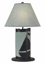 Sailboat Panel with Nightlight Lamp