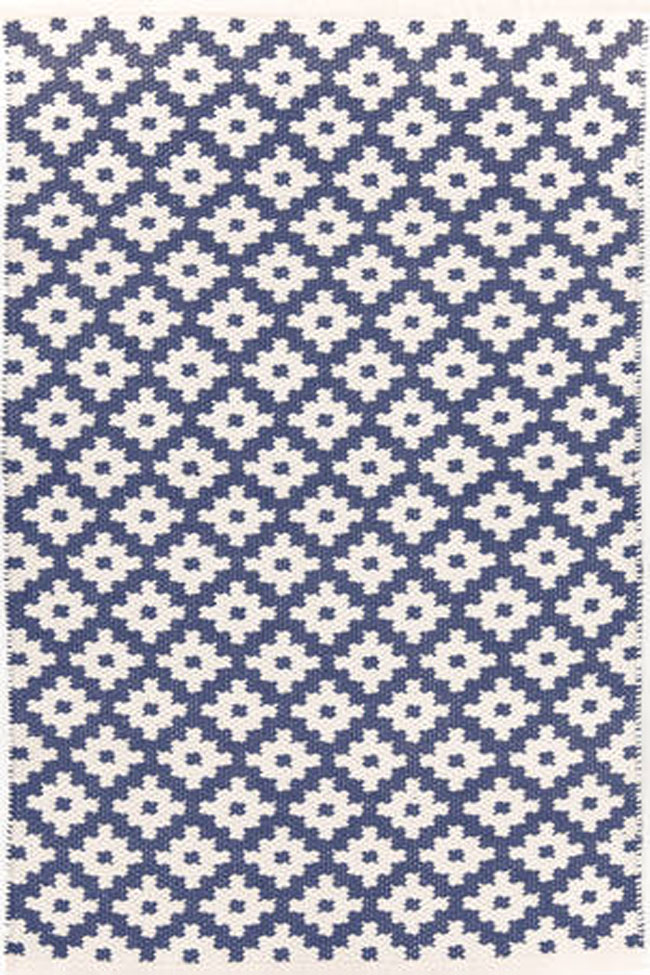 Dash And Albert Samode Denim Ivory Indoor Outdoor Rug For