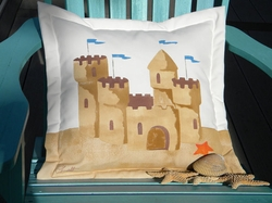 Sand Castle Outdoor Pillow