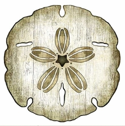 Sand Dollar Wood Cut Art