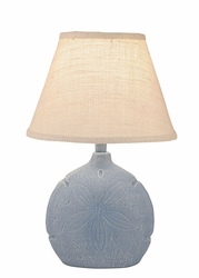 Sand Dollar Accent Lamp in Atlantic Grey