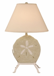 Sand Dollar Lamp with Iron Stand