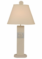 Sand Dollar Panel Table Lamp in Light Blue