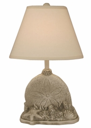 Sand Dollar with Shell Table Lamp in Seastone
