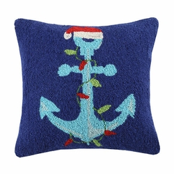 Santa Anchor Holiday Pillow <font color=cf2317> Sold Out</font>