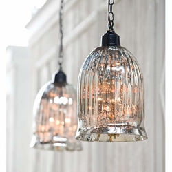 Savannah Hanging Antique Glass Pendant Light