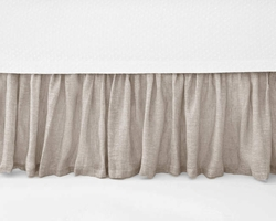 Savannah Linen Chambray Dove Grey Bed Skirt<font color=cf2317> 20% Off</font>