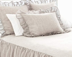 Savannah Linen Chambray Dove Grey Bedspread