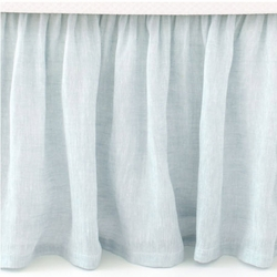 Savannah Linen Chambray Sky Blue Bed Skirt<font color=cf2317> 20% Off</font>