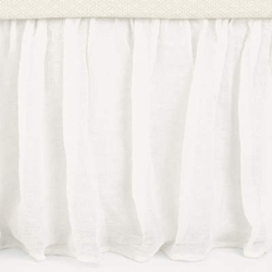 "Savannah Linen Gauze Ivory or White 18"" Gathered Bed Skirt<font color=cf2317> 20% Off</font>"