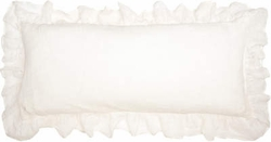 Savannah Linen Gauze Ivory Double Boudoir Pillow