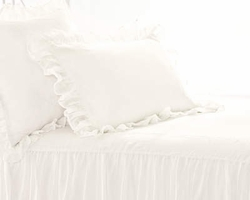 Savannah Linen Gauze Ivory or White Sham