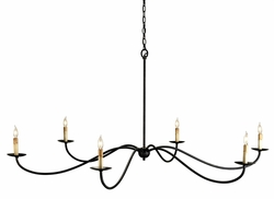 Saxon Chandelier in Black or Silver