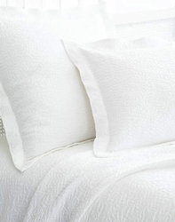 Scramble White Matelasse Coverlet