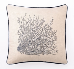 Sea Grass Embroidered Pillow<font color=a8bb35> NEW</font>