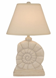 Sea Snail Table Lamp in Ivory