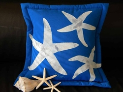 Sea Stars on Cobalt Pillow