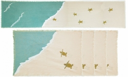 Sea Turtle Table Runner and 4 Placemats