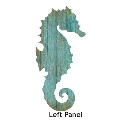 Seahorse Silhouette In Aqua Or White Cottage Amp Bungalow
