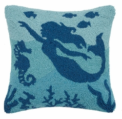 Sea Life Mermaid Hooked Pillow