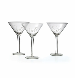 Set of 12 Martinez Martini Glasses