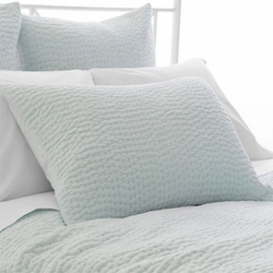 Seychelles Quilted Sham in Sky Blue <font color=a8bb35> NEW</font>