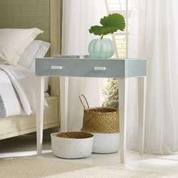 Shagreen Bedside Table Blue