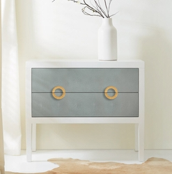 Shagreen Two Tone Chest <font color=a8bb35> NEW</font>