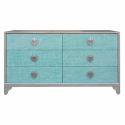 Shanghai 6 Drawer Dresser in Teal