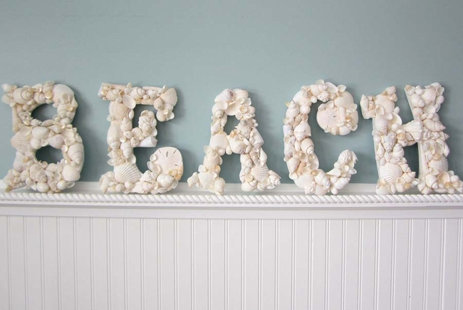 White Shell Letters