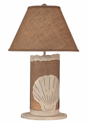 Shell Scene Panel with Nightlight Lamp