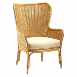 Sheridan Rattan Wing Chair in Four Colors